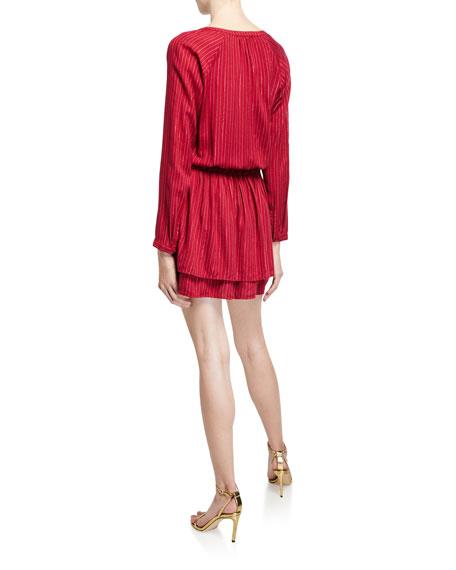 Rails Jasmine Striped Long-Sleeve Dress