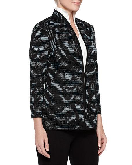 Misook Plus Size Animal-Print Ottoman Jacket