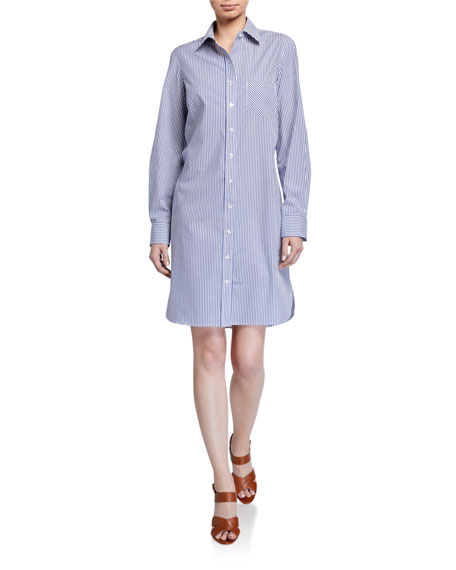 Finley Alex Ralph Stripe Button-Front Shirtdress