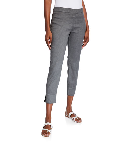 120% Lino Side Zip Stretch Capri Pants