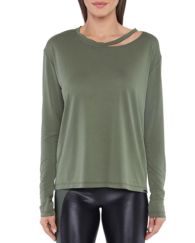 Koral Defend Cupro Plus Long-Sleeve T-Shirt w/ Cutout Detail