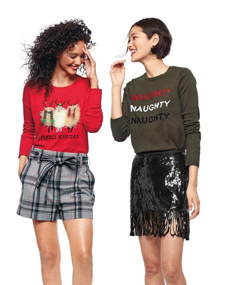 Lisa Todd Plus Size Naughty Naughty Naughty Holiday Sweater