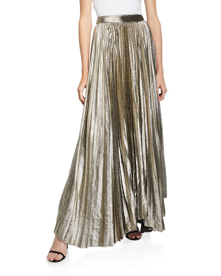 Alice + Olivia Katz Sunburst Pleated Maxi Skirt by Alice + Olivia