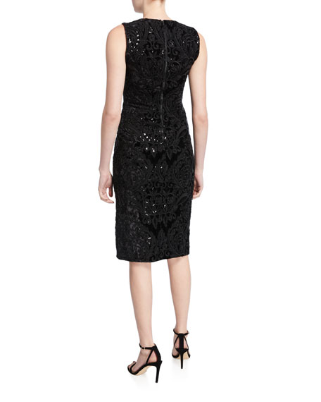 Alice + Olivia Alba Embellished Midi Dress