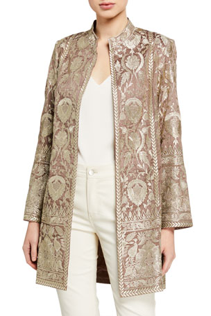 Bella Tu Selena Metallic Embroidered Jacket