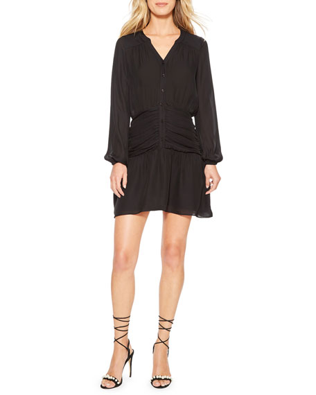 Parker Zee Button-Front Short Dress