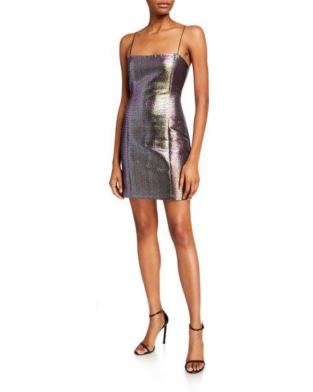 Likely Hayley Metallic Cocktail Dress