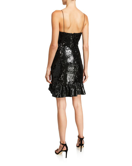 Image 2 of 2: Likely Lilia Sequined Ruffle Cocktail Dress