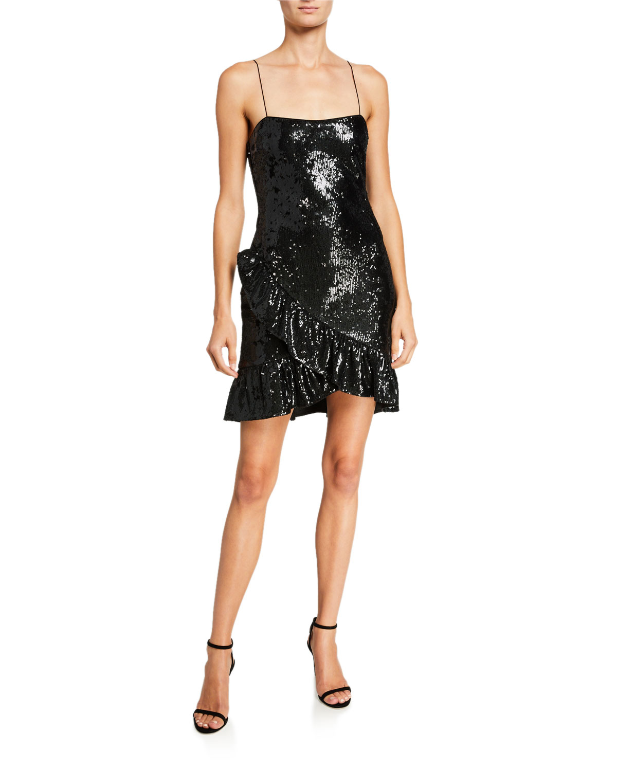 Likely Lilia Sequined Ruffle Cocktail Dress