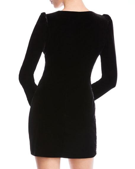 Bailey 44 Selby Sequined Velvet Long-Sleeve Cocktail Dress