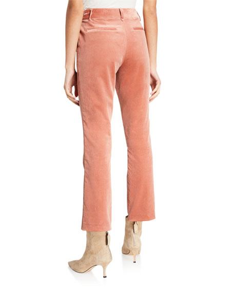 FRAME Cropped Velvet Perfect Trousers