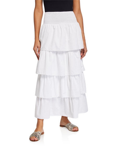 WeWoreWhat Paloma Tiered Long Coverup Skirt