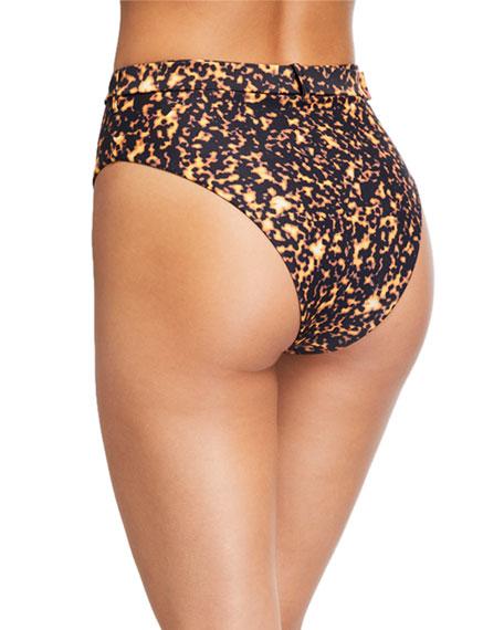 WeWoreWhat Emily High-Rise Tortoiseshell Bikini Bottom