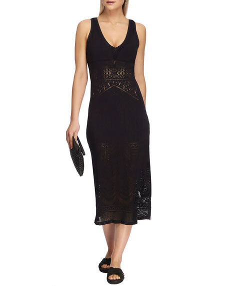 Image 1 of 3: JETS by Jessika Allen Sleeveless Long Lace Midi Dress