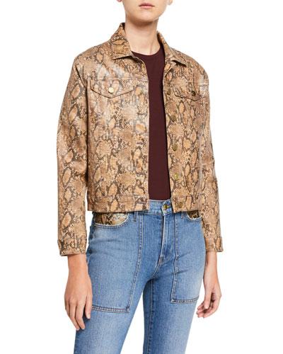 Le Vintage Python Coated Jacket