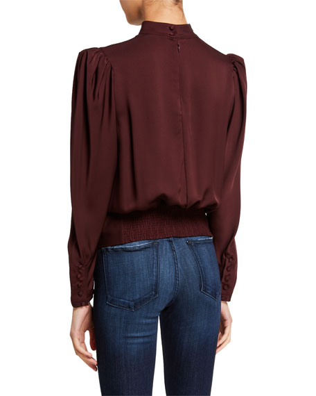 FRAME Luxe Keyhole Top