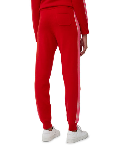 Chinti And Parker Ripple Side-Stripe Wool Track Pants