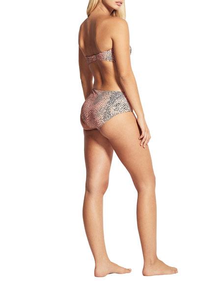 Seafolly Mid-Rise Printed Bikini Swim Bottom