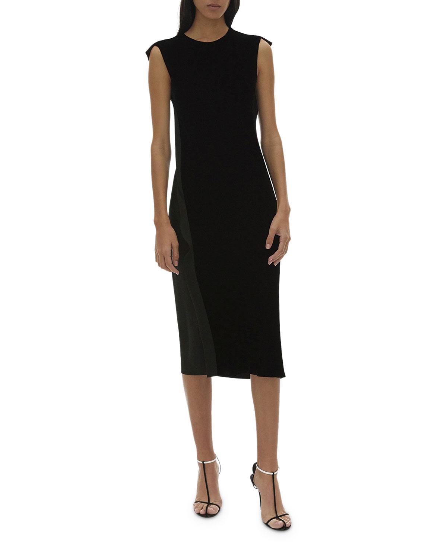 Helmut Lang Sleeveless Velvet Shift Dress