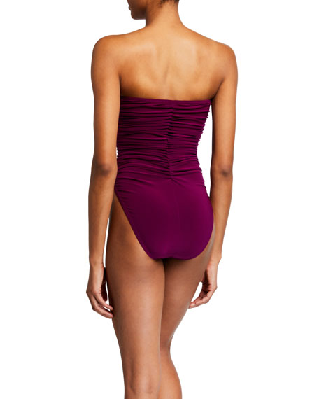 Image 2 of 2: Norma Kamali Slinky Marissa Ruched One-Piece Swimsuit