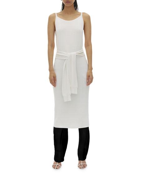 Helmut Lang Dresses Tie-Waist Sleeveless Midi Dress