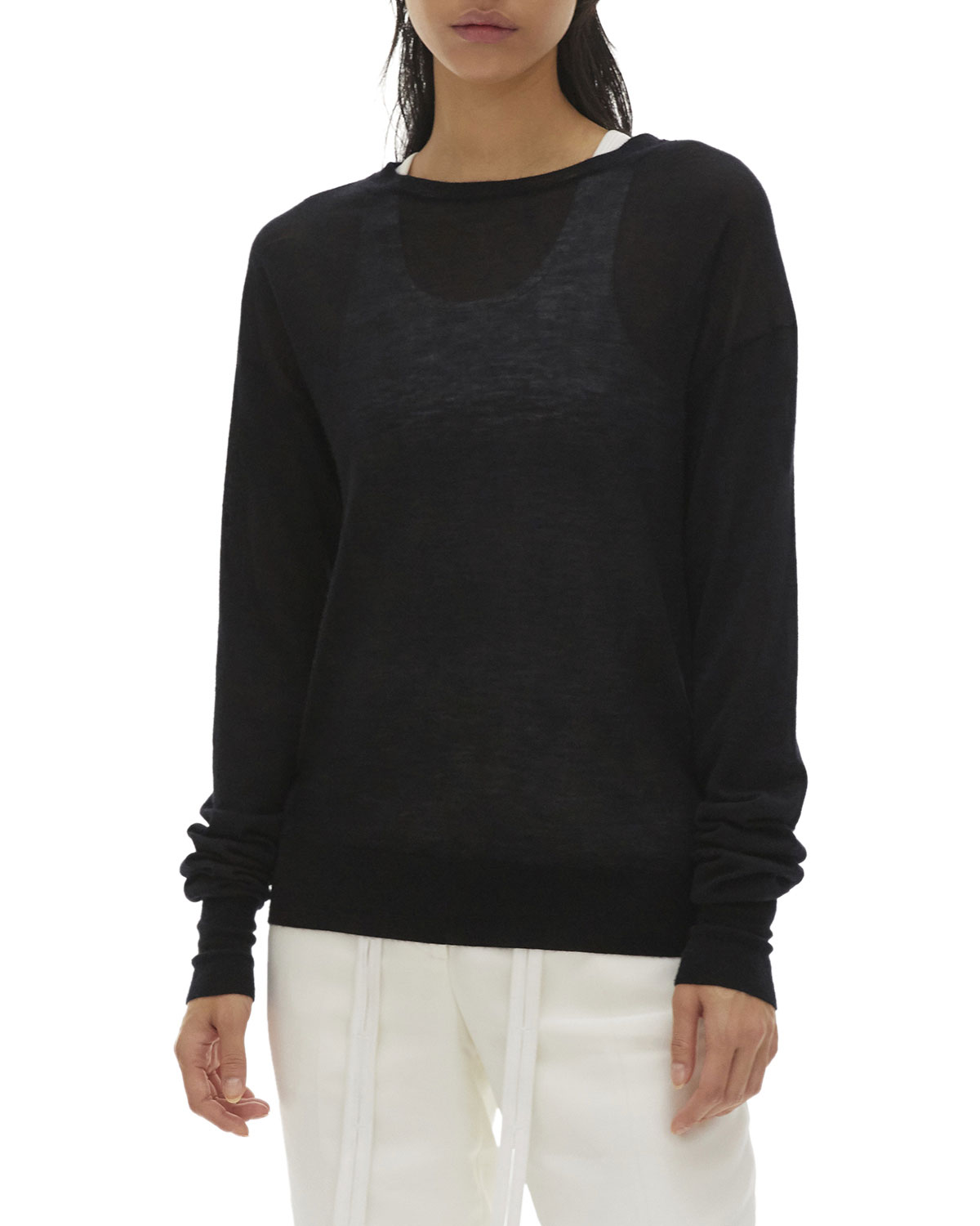 Crewneck Cashmere Sweater by Helmut Lang