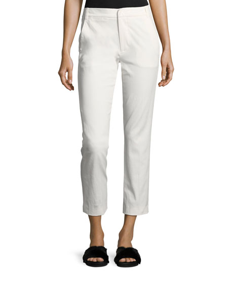 Vince Coin-Pocket Straight-Leg Cropped Chino Pants