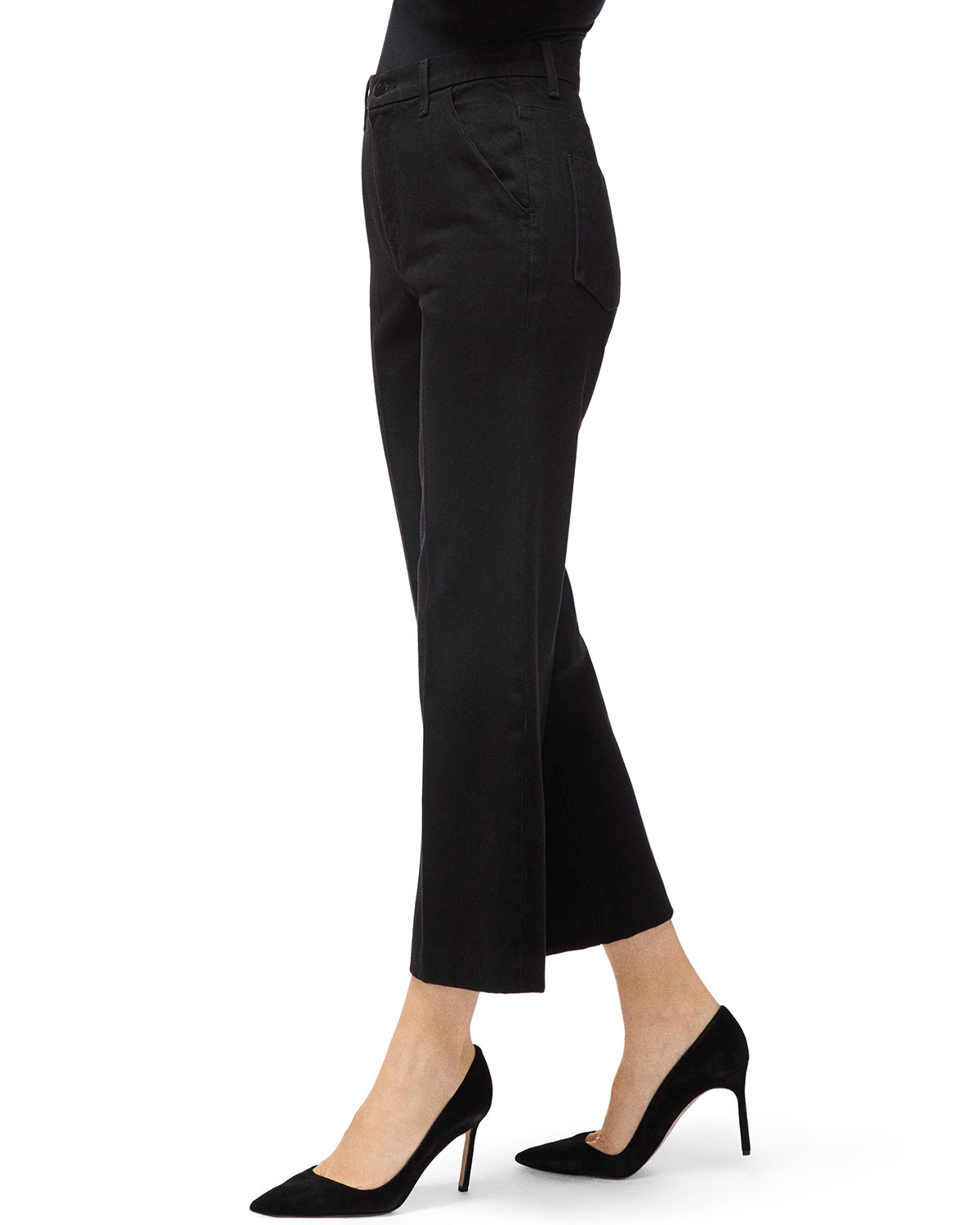 Joan Straight Leg Cropped Trousers by J Brand