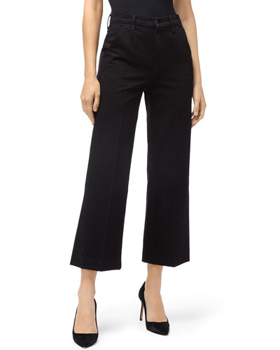 Joan Straight-Leg Cropped Trousers