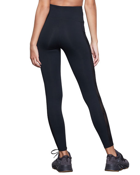 Good American Ascending Dot Mesh Pocket Leggings - Inclusive Sizing