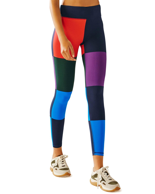 Tory Sport Colorblocked Full-Length Leggings