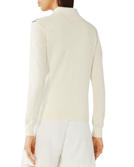 Tory Sport Cotton/Cashmere Multi Stripe Sweater