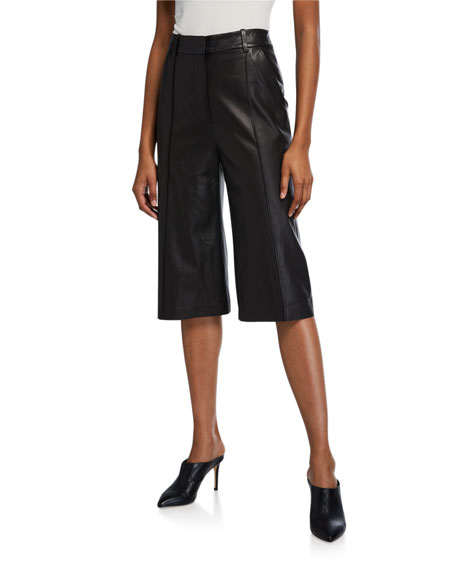 Veronica Beard Arnold Leather Culottes