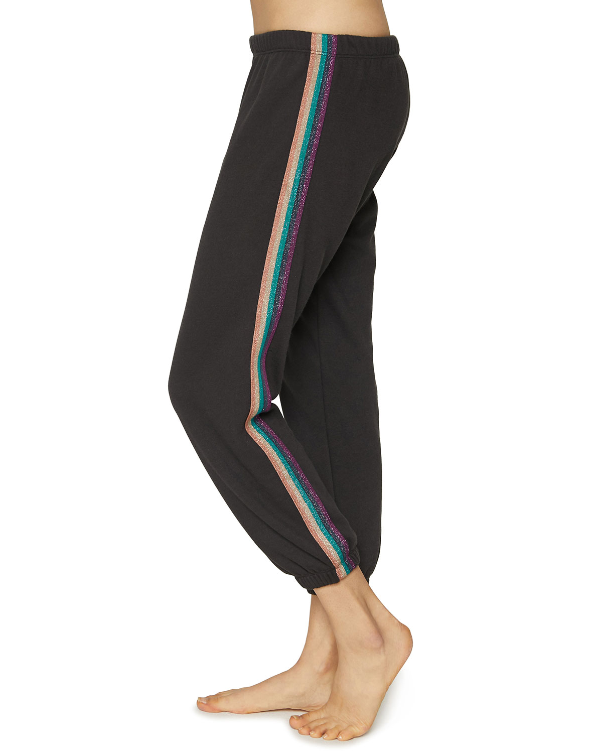 Spiritual Gangster Perfect Sweatpants with Metallic Side Stripes