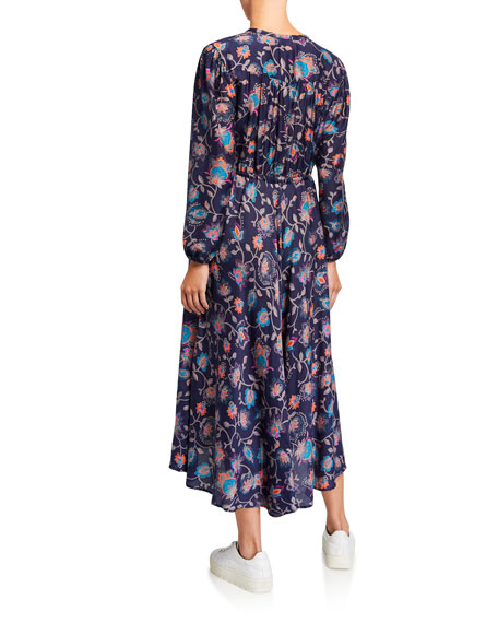 Image 2 of 2: Phoebe Floral Print Midi Dress