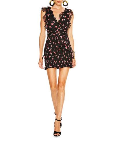 Incognito Floral Print Mini Dress