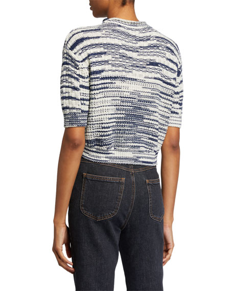 Image 2 of 2: See by Chloe Cropped Wool-Blend Pullover