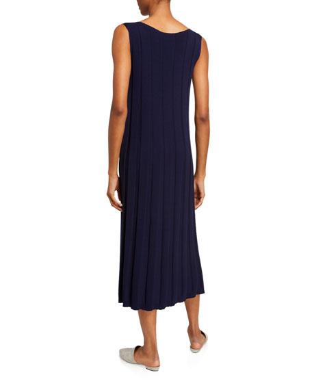 Lafayette 148 New York Sleeveless Matte Crepe Rib A-Line Dress