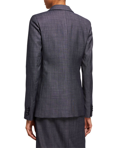 Lafayette 148 New York Harlow Fusion Suiting Two-Button Jacket