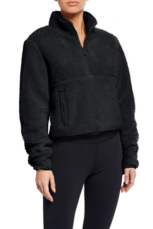Alo Yoga Shanti Half-Zip Sherpa Fleece Jacket