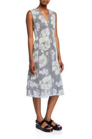 3.1 Phillip Lim Abstract Daisy Fil Coupe Midi Dress