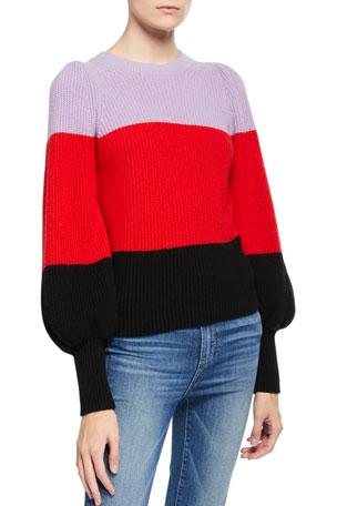 A.L.C. Sammy Colorblock Cashmere Sweater