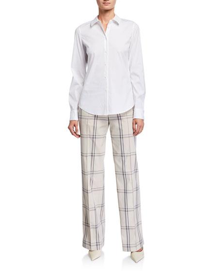 Lafayette 148 New York Winthrop Lattice Plaid Pants