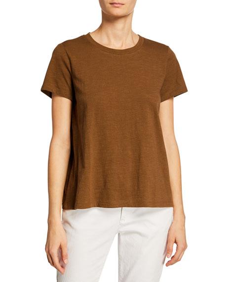 Eileen Fisher Crewneck Short-Sleeve Organic Cotton Tee