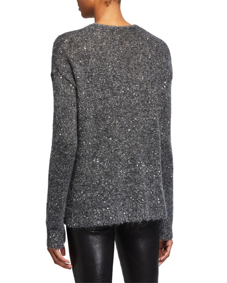 Image 3 of 3: ATM Anthony Thomas Melillo Sequined V-Neck Cardigan