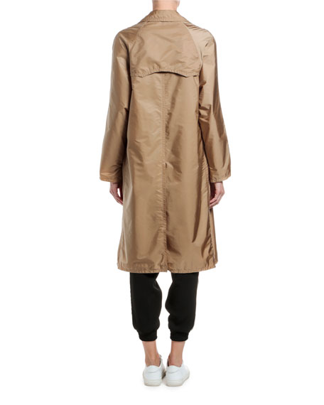 Moncler Vanille Long Raincoat