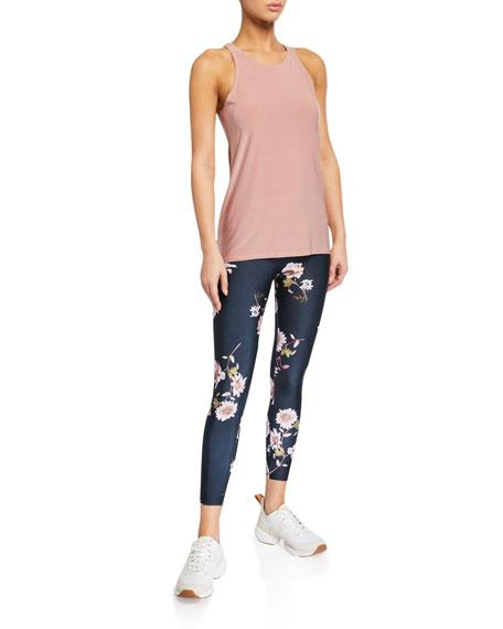 Onzie High Basic Midi Floral-Print Leggings