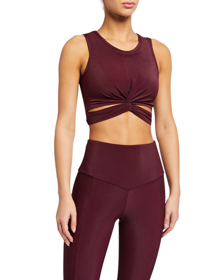 Onzie Front Twist Sleeveless Crop Top