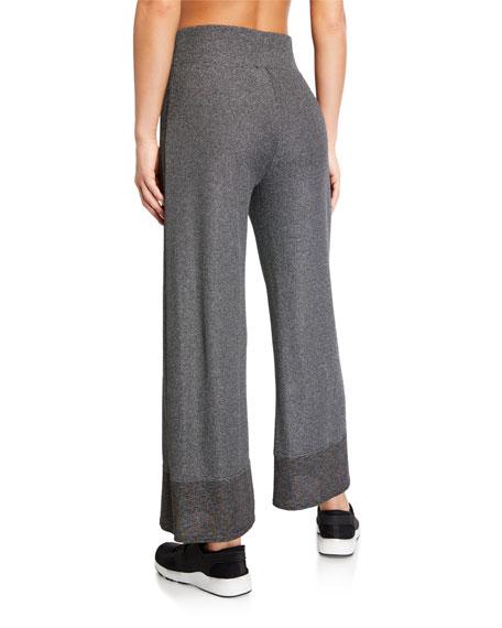 Terez Rainbow Shimmer Knit Waffle Pants