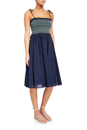 Tory Burch Convertible Smocked Coverup Dress